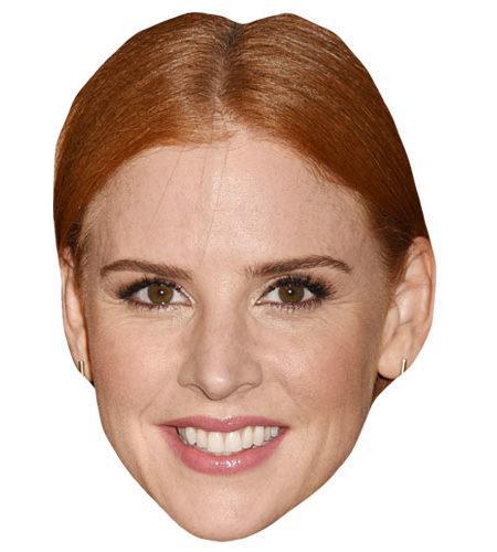 A Cardboard Celebrity Mask of Sarah Rafferty