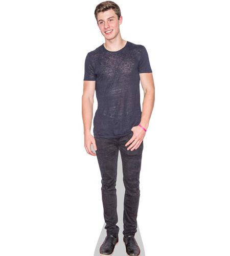 A Lifesize Cardboard Cutout of Shawn Mendes wearing jeans