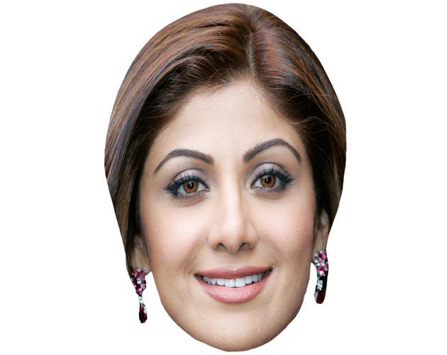 A Cardboard Celebrity Mask of Shilpa Shetty