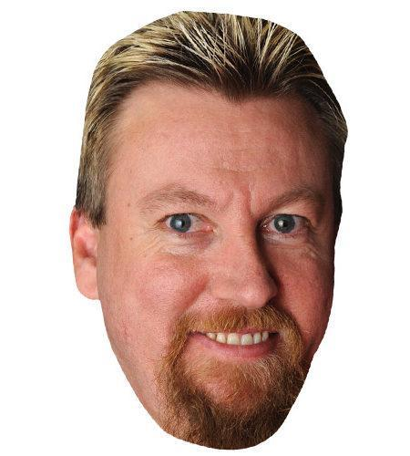 A Cardboard Celebrity Mask of Simon Whitlock