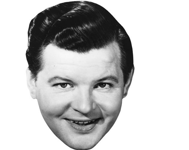 A Cardboard Celebrity Mask of Benny Hill