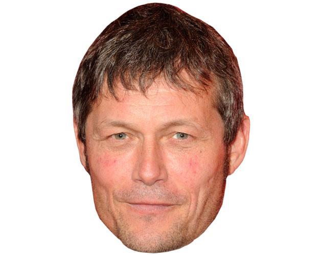 A Cardboard Celebrity Mask of Bill Ward