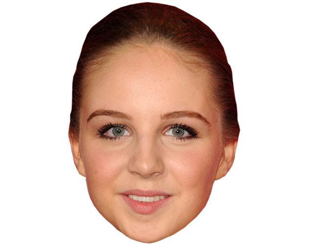 A Cardboard Celebrity Mask of Eden Taylor-Draper
