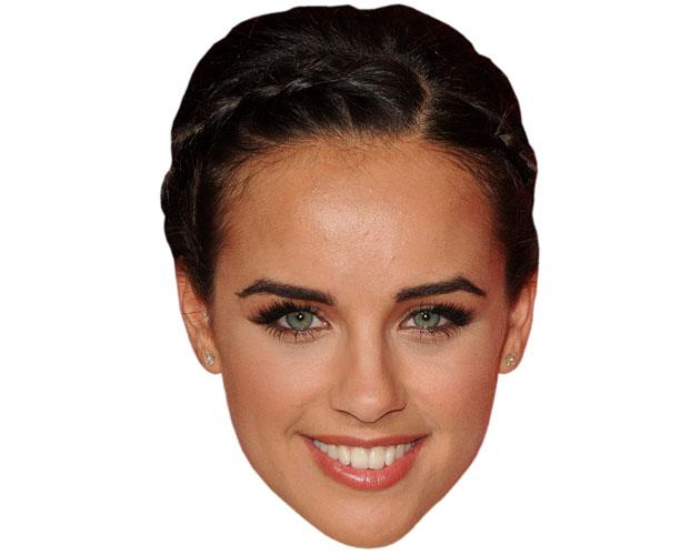 A Cardboard Celebrity Mask of Gerogia May Foote