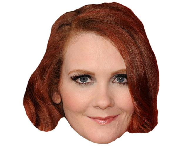 A Cardboard Celebrity Mask of Jennie McApline