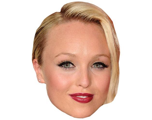 A Cardboard Celebrity Mask of Jorgie Porter