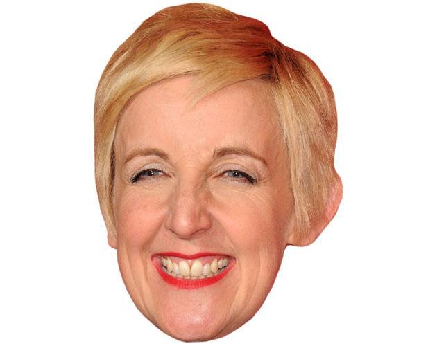 A Cardboard Celebrity Mask of Julie Hesmondhalgh