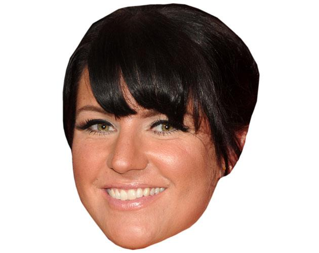 A Cardboard Celebrity Mask of Laura Norton