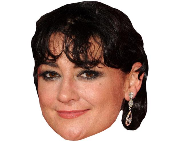 A Cardboard Celebrity Mask of Natalie J Robb