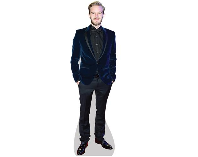 A Lifesize Cardboard Cutout of PewDiePie wearing a suit