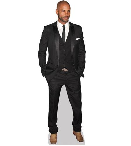 A Lifesize Cardboard Cutout of Ricky Whittle wearing a suit