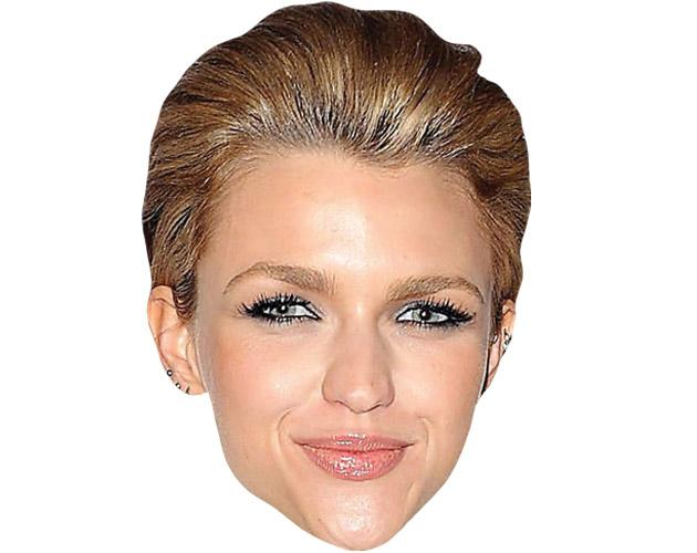 A Cardboard Celebrity Mask of Ruby Rose