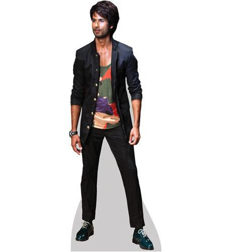 A Lifesize Cardboard Cutout of Shahid Kapoor wearing black