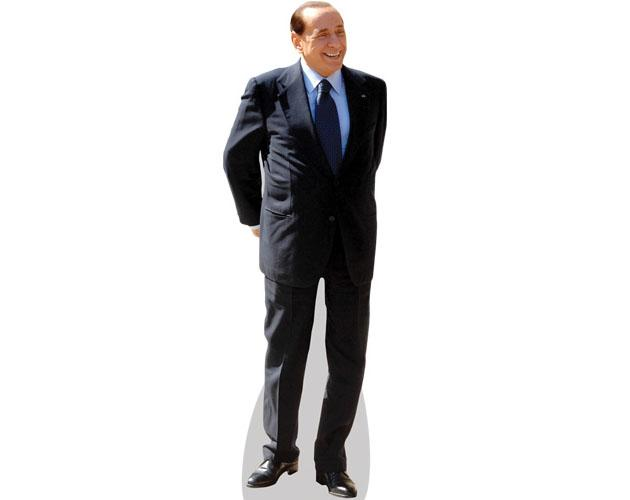 A Lifesize Cardboard Cutout of Silvio Berlusconi wearing a suit
