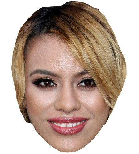 A Cardboard Celebrity Mask of Dinah-Jane Hansen