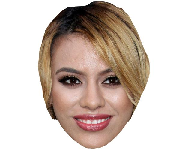 A Cardboard Celebrity Mask of Dinah-Jane Hansen
