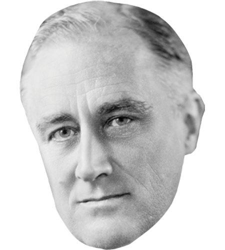 A Cardboard Celebrity Mask of Franklin D. Roosevelt
