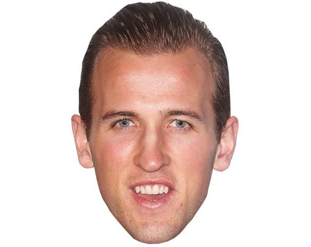 A Cardboard Celebrity Mask of Harry Kane