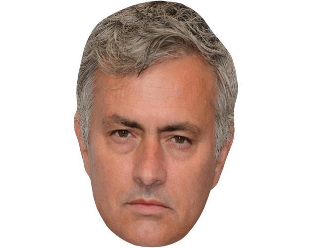 A Cardboard Celebrity Mask of Jose Mourinho