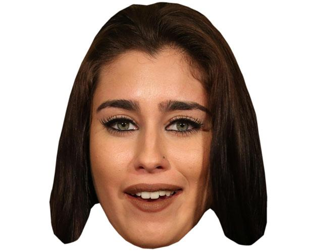 A Cardboard Celebrity Mask of Lauren Jauregui