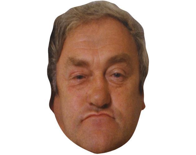 A Cardboard Celebrity Mask of Les Dawson