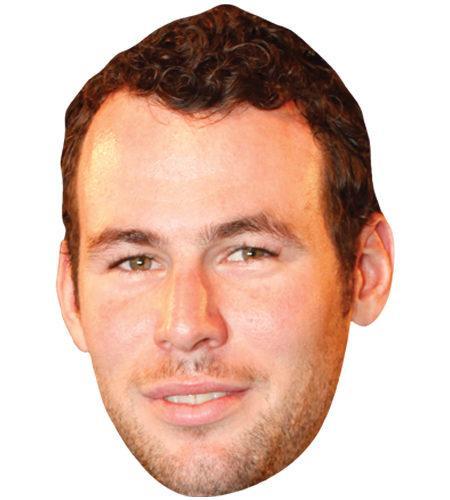 A Cardboard Celebrity Mask of Mark Cavendish