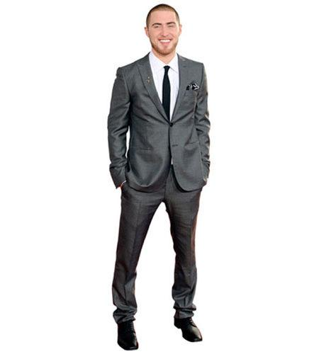 A Lifesize Cardboard Cutout of Mike Posner wearing a suit