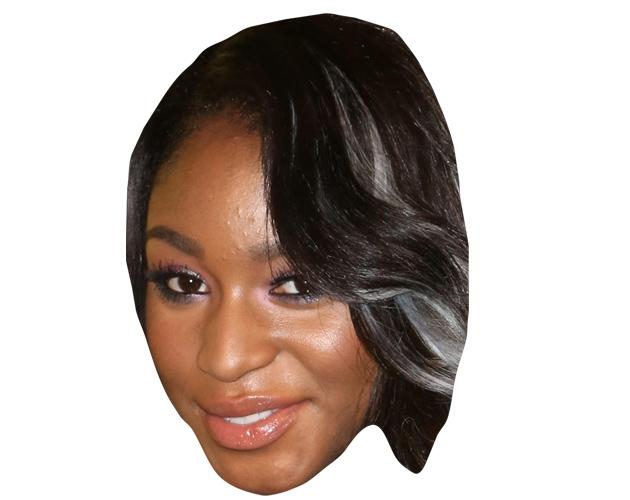 A Cardboard Celebrity Mask of Normani Hamilton