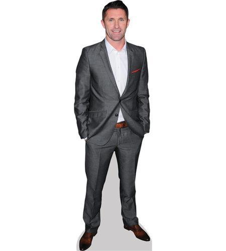 A Lifesize Cardboard Cutout of Robbie Keane wearing a suit
