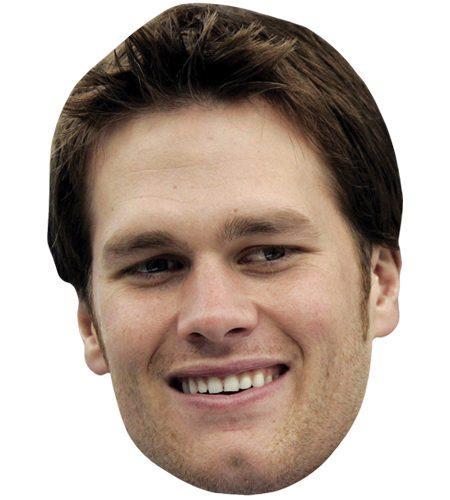 A Cardboard Celebrity Mask of Tom Brady