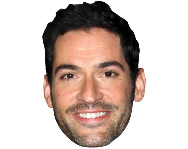 A Cardboard Celebrity Mask of Tom Ellis