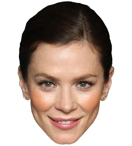 A Cardboard Celebrity Mask of Anna Friel