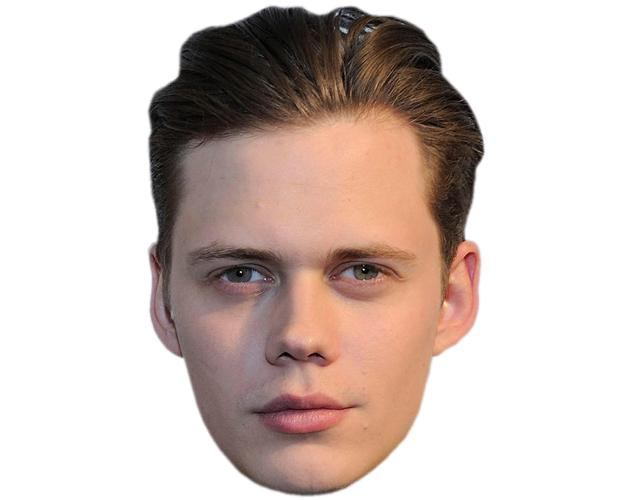A Cardboard Celebrity Mask of Bill Skarsgard
