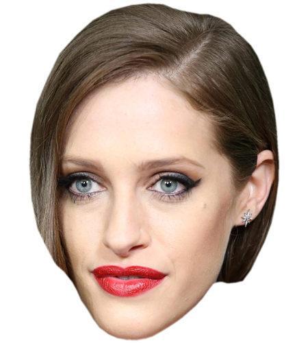 A Cardboard Celebrity Mask of Carly Chaikin