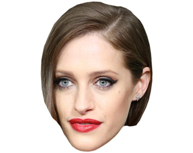 A Cardboard Celebrity Mask of Carly Chaikin