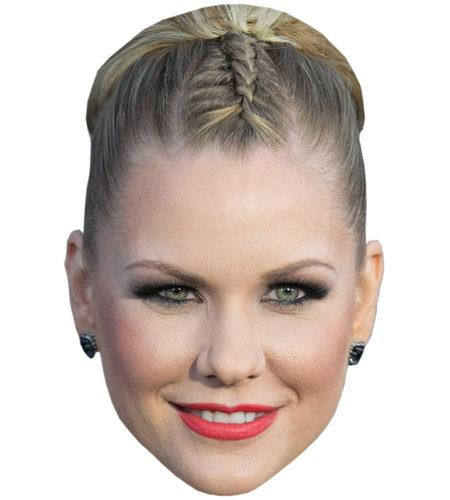 A Cardboard Celebrity Mask of Carrie Keagan