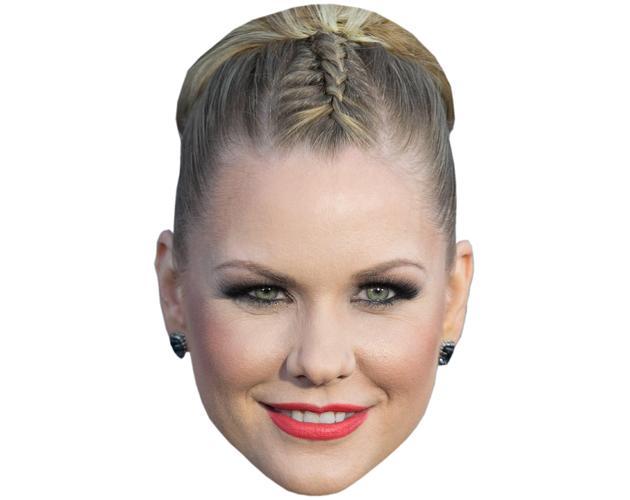 A Cardboard Celebrity Mask of Carrie Keagan