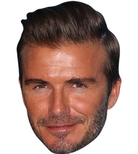 A Cardboard Celebrity Mask of David Beckham (2016)