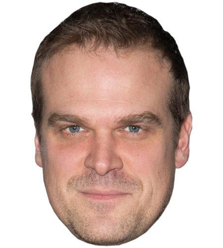 A Cardboard Celebrity Mask of David Harbour