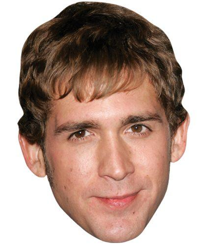 A Cardboard Celebrity Mask of Eric Szmanda