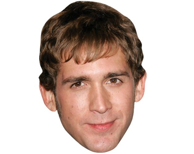 A Cardboard Celebrity Mask of Eric Szmanda