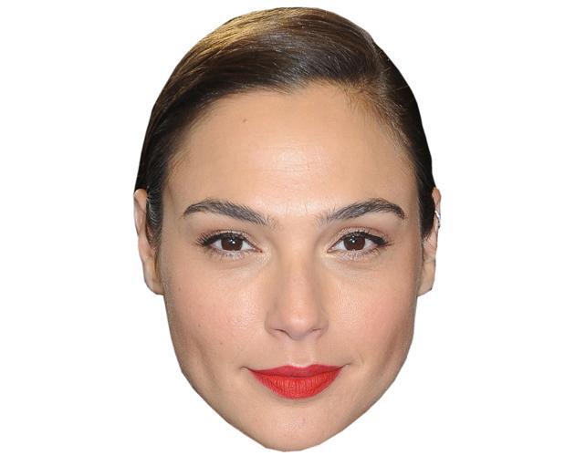 A Cardboard Celebrity Mask of Gal Gadot