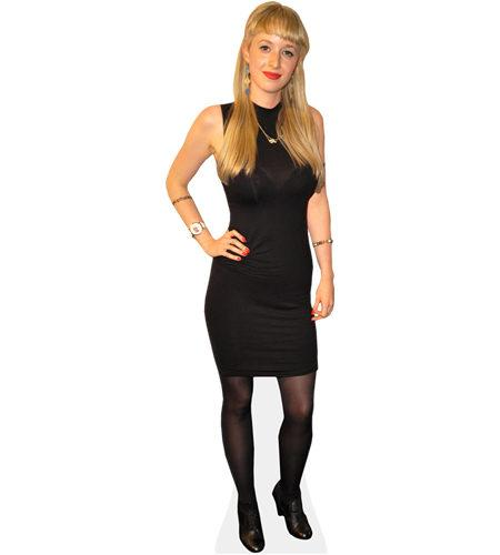 A Lifesize Cardboard Cutout of Holli Dempsey (Hair Down) with her hair down