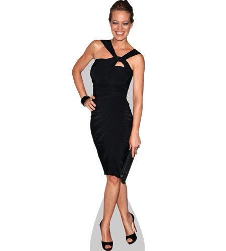 A Lifesize Cardboard Cutout of Jeri Ryan wearing a black dress