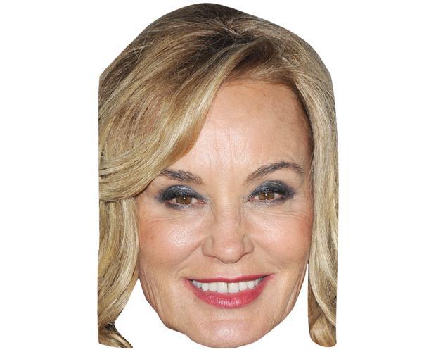 A Cardboard Celebrity Mask of Jessica Lange