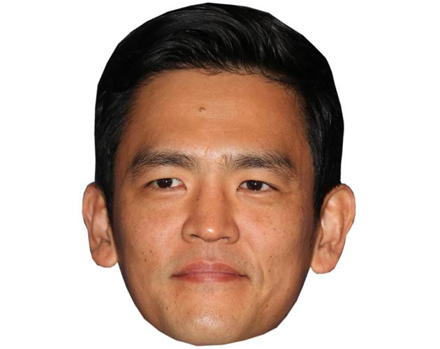 A Cardboard Celebrity Mask of John Cho