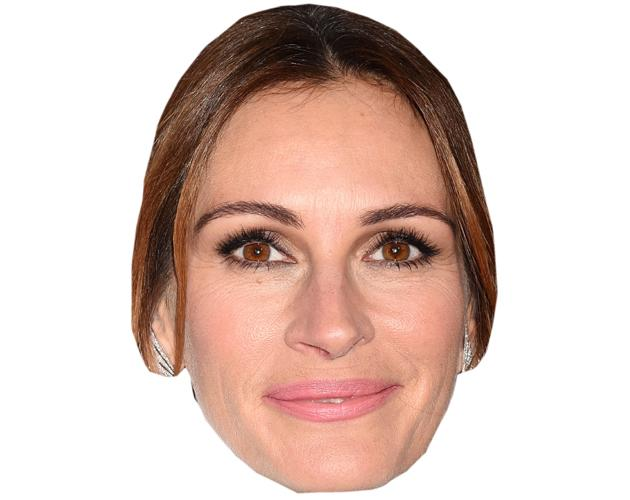 A Cardboard Celebrity Mask of Julia Roberts