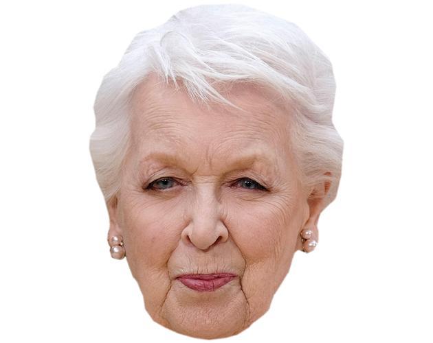 A Cardboard Celebrity Mask of June Whitfield
