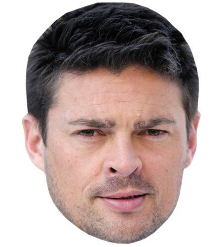 A Cardboard Celebrity Mask of Karl Urban