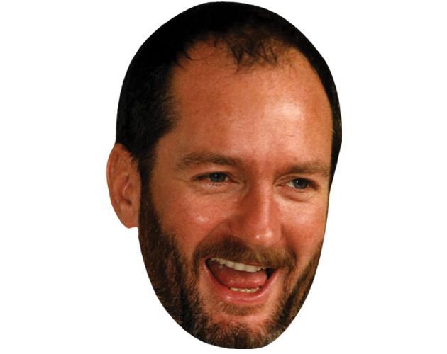 A Cardboard Celebrity Mask of Kenny Everett